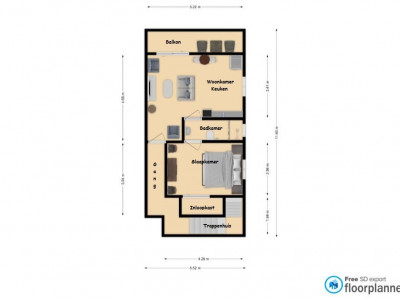 2 pers - im Obergeschoss galerie