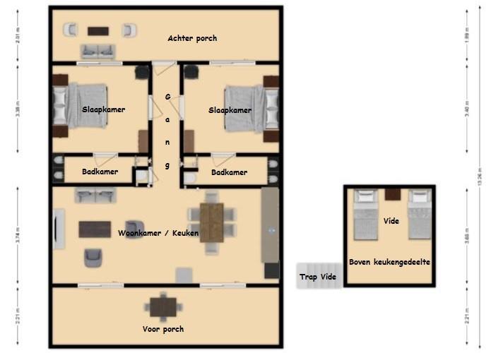 4 - 6 pers Landhuis Kleine Berg